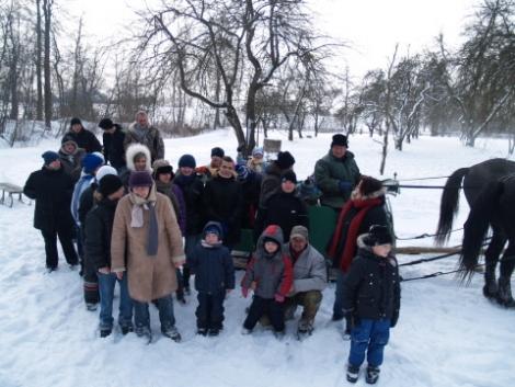 19.02.2011 Zimowo u Państwa Lange ,czyli kulig i coś ciepłego